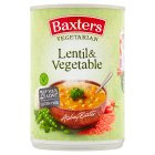 Baxters vegetarian lentil & vegetable - 400g Brand Price Match - Checked Tesco.com 01/07/2015