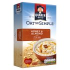 Quaker Oats So Simple honey & almond porridge cereal sachets - 330g