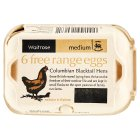 Waitrose Columbia Blacktail Hens free range eggs med - 6s