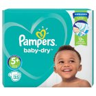 Pampers Baby Dry 5+ Essential 35 Nappies - 35s
