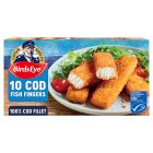 Birds Eye 10 cod fish fingers frozen - 280g