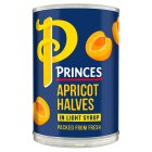 Princes apricot halves in light syrup - drained 240g