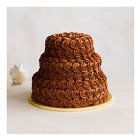 Triple Chocolate Heaven 3 Tier Wedding Cake, All Milk Chocolate tiers - each