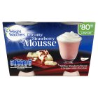 Weight Watchers strawberry & white chocolate mousse - 2x80g
