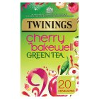 Twinings cherry bakewell green tea 20 teabags - 40g