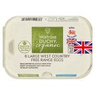 Waitrose Duchy Organic 6 large West Country free range eggs - 6s