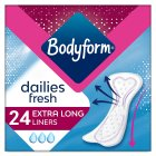 Bodyform extra long daily liners - 24s