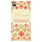 Divine Fairtrade white chocolate with strawberries - 100g