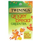 Twinings gingerbread green tea 20 envelopes - 40g
