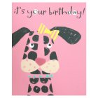 Dog Birthday Card - 1x1each