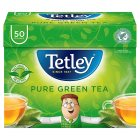 Tetley green tea pure 50 tea bags - 100g