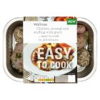 Waitrose Easy to Cook chicken, sausage stuffing with gravy - 400g