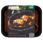 menu from Waitrose Rich chicken in red wine & brandy - 500g