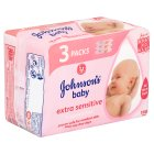 Johnson's baby wipes extra sensitive - 168s Brand Price Match - Checked Tesco.com 28/07/2014