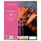 Waitrose slow cooked rolled beef brisket - 750g