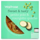 Waitrose Summer petit pois & courgette quiche - 400g