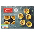 Waitrose Party 12 cheddar and bacon mini quiches - 420g