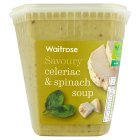 Waitrose LOVE life celeriac, spinach, creme fraiche and herb soup