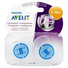 Phillips Avent orthodontic soothers 6-18 months - 2s