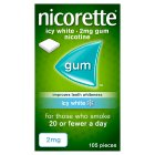 Nicorette icy white chewing gum, 2mg - 105s