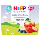 Hipp just fruit apple & strawberry - 4x100g