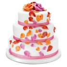 Fiona Cairns Flame Rose Petal 3-tier Wedding Cake (Mixed Filling) -