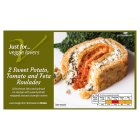 Waitrose Frozen sweet potato, tomato & feta roulades - 240g
