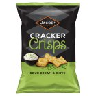 Jacobs sour cream & chive cracker crisps - 150g