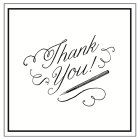 Thank You with Pen Pigment Product - 1x1each