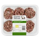 essential Waitrose 6 lamb burgers - 450g