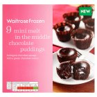 Waitrose 9 mini melt in middle choc puds - 225g