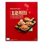 Waitrose 12 frozen mini three cheese pizzas - 360g