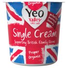 Yeo Valley organic single cream - 227ml
