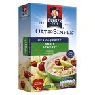 Quaker Oats So Simple Heaps of Fruit apple & cherry porridge cereal sachets - 289g