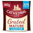 Cathedral City mature Lighter grated cheese - 180g
