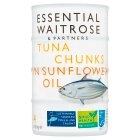 essential Waitrose Tuna Chunks in Sunflower Oil - drained 4x112g