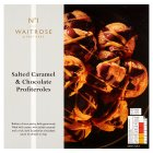 Waitrose Seriously salted caramel & chocolate profiteroles - 240g