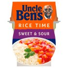 Uncle Ben's Rice Time sweet & sour rice & sauce pot - 300g
