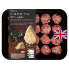 Waitrose 20 British veal meatballs with parmesan - 300g