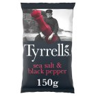 Tyrrells sea salt & black pepper potato chips - 150g