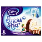 Cadbury snow star cakes - 5s