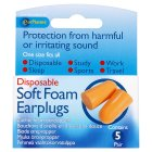 Earplanes soft foam earplugs - 5 pairs