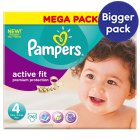 Pampers Active Fit Sze 4 Mega 76 Nappies - 76s