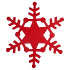 Waitose Home Red Felt Snowflake Placemat -