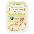 Waitrose British roast chicken lemon & herb pieces - 130g