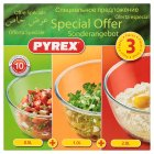 Pyrex 3 piece bowl set - each Special Purchase