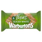 Warburtons soft white sandwich thins - 6s