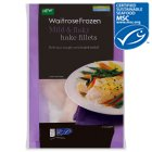 Waitrose MSC hake fillets - 375g