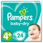 Pampers baby-dry 4+ maxi plus 9-20kg - 24s Brand Price Match - Checked Tesco.com 28/07/2014