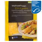 Waitrose frozen line caught smoked haddock fillets - 400g